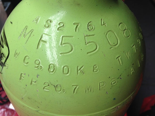 SCBA Cylinder Markings